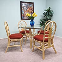 Premium Rattan Dining Furniture Sundance 5 Piece Set (Natural finish)