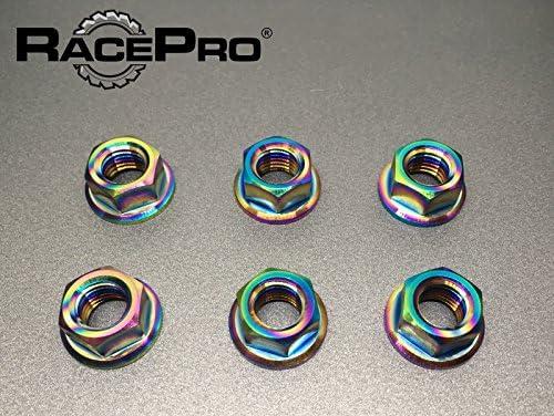 Rainbow. RacePro Yamaha YZF R125 2008 x6 Titanium Rear Sprocket Nuts
