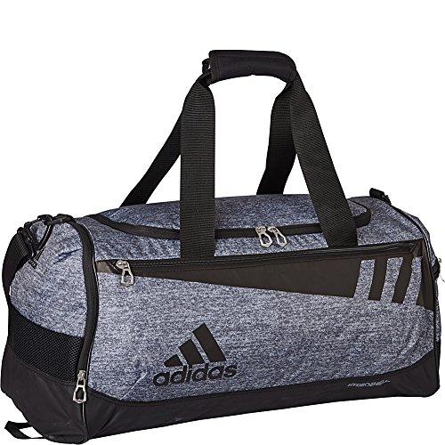 adidas Team Issue Duffel Bag, Onix Jersey/Black, Medium