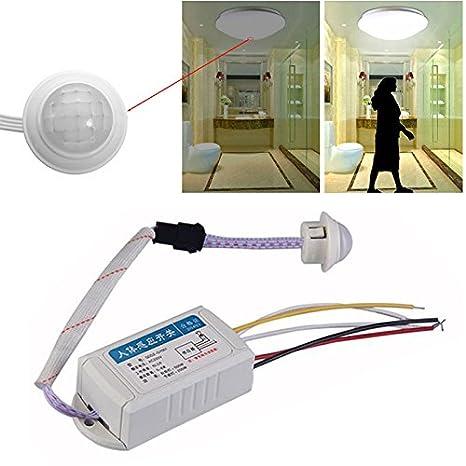 Henreal Interruptor de Control de la lámpara de luz automática infrarrojo infrarrojo IR Sensor de Movimiento