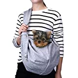 Cheap TOMKAS Small Dog Cat Carrier Sling Hands Free Pet Puppy Outdoor Travel Bag Tote Reversible (Gray)