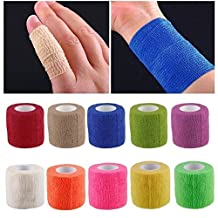 Health Care Elastic Self-Adhesive First Aid Medical Treatment Bandage Gauze Tape(Random color)