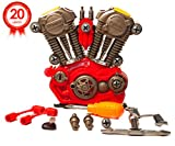 Take Apart Engine Toy Pretend Play Set – Build Your Own Engine Motor Kit Toy – 20 Take-A-Part Pieces With Realistic Lights, Sounds And Toy Tools For Kids Ages 3 & Up