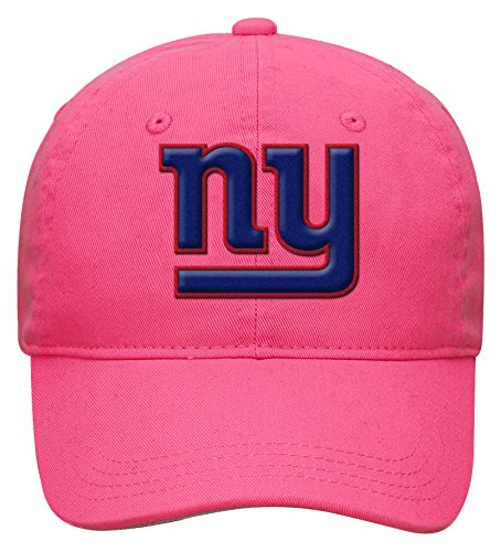 NFL Toddler Slouch Adjustable Hat-Pink-1 Size, New York Giants - Adjustable Pink Hat