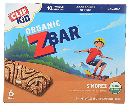 CLIF KID ZBAR - Organic Energy Bar - S'mores - (1.27 Ounce Snack Bar, 6 Count) by Zbar