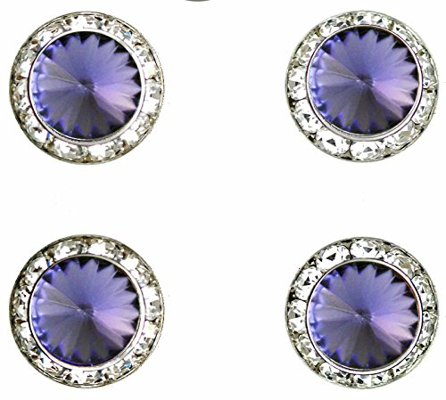 Horse Show Jewelry - Horse jewelry magnetic contestant show number pins Tanzinite Swarovski crystal set of 4
