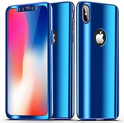 coque iphone xs slim bleu