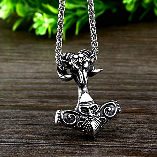 Metal Color: only Pendant Davitu Steel Soldier Unique Products Viking Pendant Necklace Stainless Steel Fashion Man Jewelry