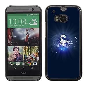 Cubierta de la caja de protección la piel dura para el HTC ONE M8 2014 - Scorpius Scorpion Zodiac Sign