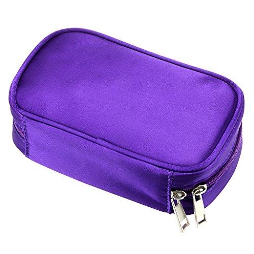 Hipiwe Essential Oils Travel Bag Perfect Carrying Case Storage Bag Organizer for Oil Bottles - Holds 10 Bottles of 5ml, 10ml, 15ml (Purple)