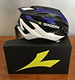 Diadora Cycling Adult Bicycle Helmet Pro-Racer 2.0 (Blue / Black, Medium)