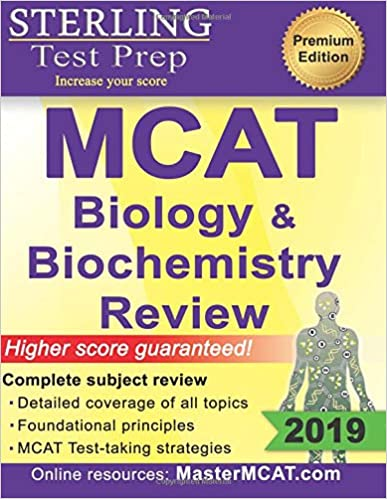 Sterling Test Prep MCAT Biology & Biochemistry Review: Complete ...
