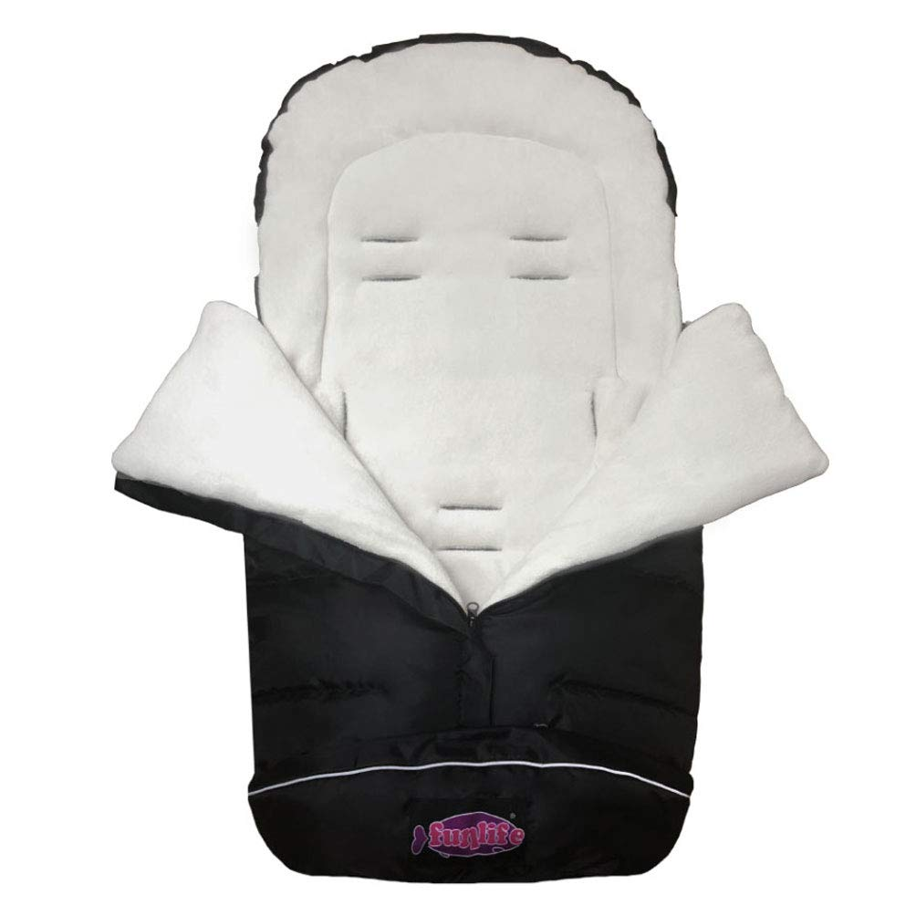German Designed Stroller Footmuff, 5 Way Zippers Style for Baby Easy in & Out Height Adjustable