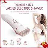 ElectricShaver for Women,Trezzitek Bikini Trimmer for Women Lady Shaver for Legs Face & Body,4 in 1 Body Hair Removal Set with Face Brush, Cordless Rechargeable & IPX7 Waterproof Christmas Gift