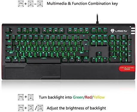 LED Backlight Illuminated Mechanical Gaming Keyboard LANGTU X1000 104 Keys Anti-Ghosting