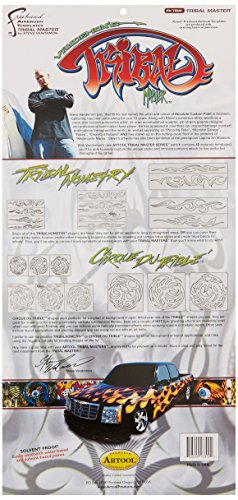 - Artool Freehand Airbrush Templates, Tribal Master Set