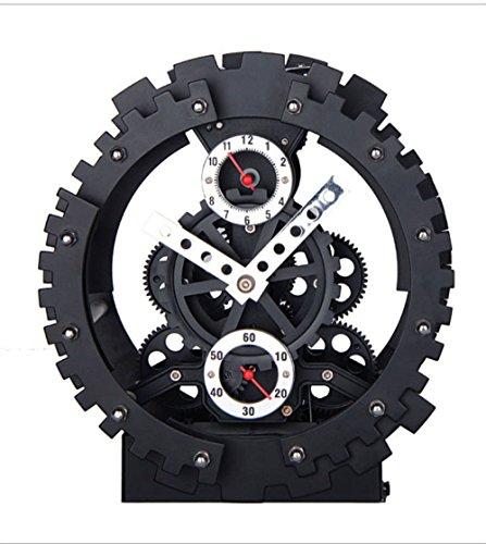 Qiao Kreative Wanduhr Zweigang Uhr High-End-Wohnzimmer Schlafzimmer Halterung Wecker Mechanische Stumm Quarzuhrwerk Clock Black,18819.5Cm