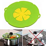 Fairbridge 1 Pc Spill Stopper Lid Cover ,Boil Over Safeguard,Silicone Spill Stopper Pot Pan Lid Multi-Function Cooking Tool ,Kitchen Gadgets,Christmas Gift for Cooking lover,Parents,Friends, Green