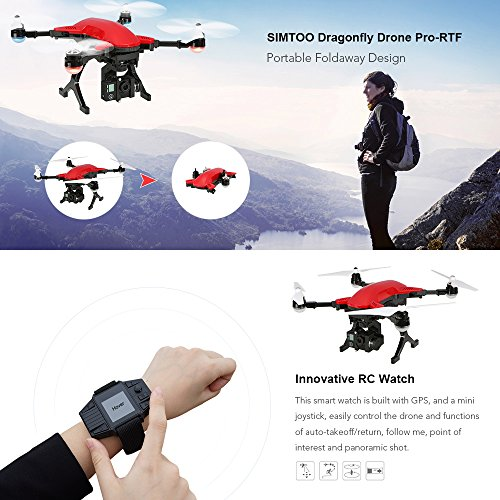 Drone Simtoo Dragonfly 4K UHD Camera Foldaway Arms Follow Me Point Of Interest Amazonde Spielzeug
