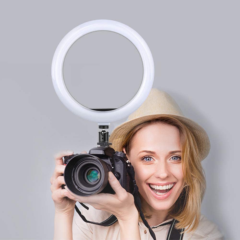 for YouTube Video and Makeup with Remote Control 3000K- 5500K Dimmable LED Ring Light with Tripod Stand and Phone Holder