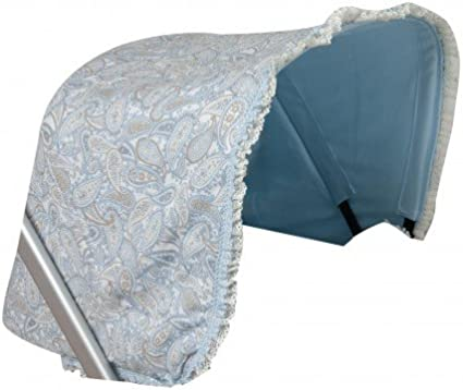 color azul Babyline Pompones Capota de coche para Bugaboo