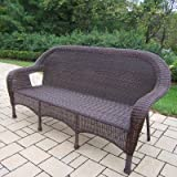 Oakland Living Resin Wicker 3-Person Settee, Coffee Review