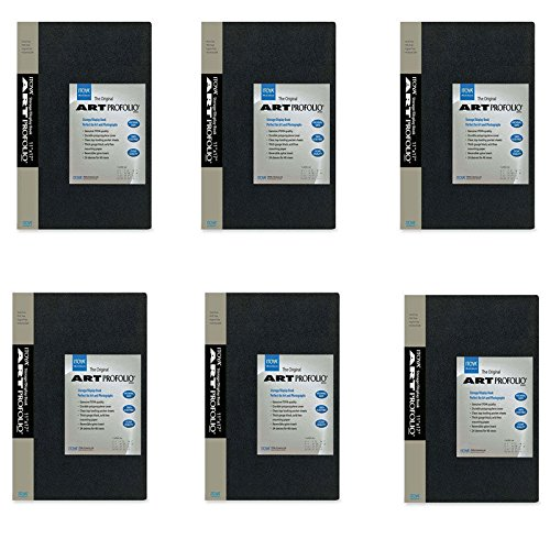 - PACK of 6 Itoya Art Portfolio 5 x 7