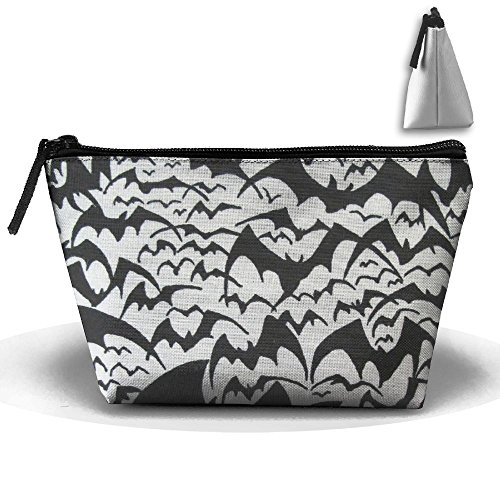 Price comparison product image Travel Cosmetic Bags Bat Group Flying Small Makeup Bag Multifunction Pouch Cosmetic Handbag Toiletries Organizer Bag for Women Girl