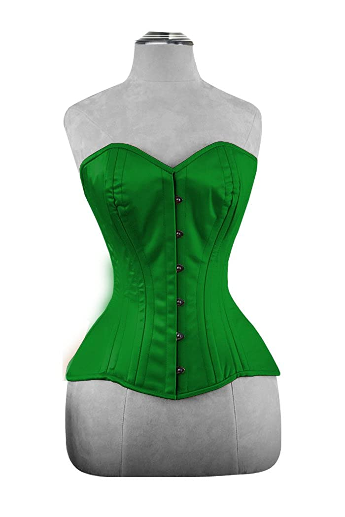 8702ea53a Design Custom Corsets Overbust Authentic Corset Long Hip-Line Steel Boned  Tight Lacing Satin P99S at Amazon Women s Clothing store