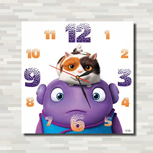 Costume Home Boov (Home - Happy Smekday ( Film ) 11.4'' Handmade Wall Clock ( ACRYLIC GLASS ) - Get unique décor for home or office – Best gift ideas for kids, friends,)