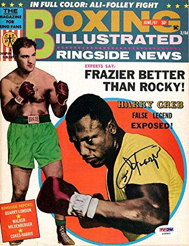 Joe Frazier Autographed Boxing Illustrated Magazine Cover #S48981 PSA/DNA Certified Autographed Boxing Magazines