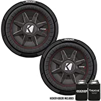 Kicker 43CWRT102 10 Dual Voice Coil 2 ohm slim line truck woofers Bundle
