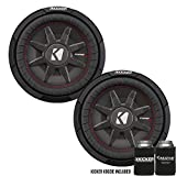 Kicker 43CWRT102 10' Dual Voice Coil 2 ohm Slim line Truck woofers Bundle
