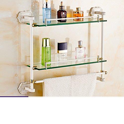 Carved Ivory Bathroom Glass Shelf The Shelf In The Bathroom Wall