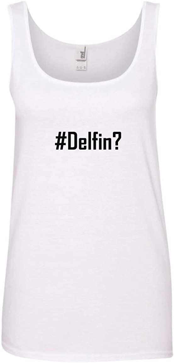 CHICKYSHIRT #Delfin? A Soft /& Comfortable Womens Ringspun Cotton Tank Top