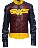 Wonder Woman Synthetic Leather Jacket For Women - Birthday Gift For Her S