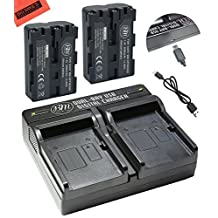 BM Premium 2-Pack NP-FM500H Batteries and Dual Battery Charger for Sony Alpha a68, a77II, SLT-A57, SLT-A58, A65V, A77V, A99V, A200, A300, A350, A450, A500, A550, A560, A580, A700, A850, A900 Camera
