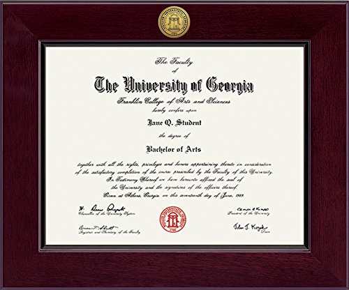 Elite Fan Shop Georgia Bulldogs Diploma Frame - Brown