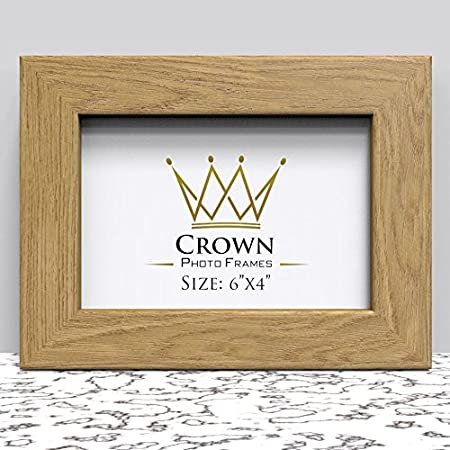 Crown Oak Photo Frame For 6x4 Inches 152 X 102 Cm Picture Photo