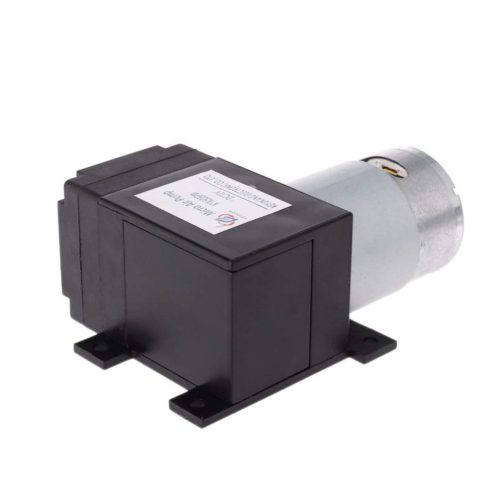 HSH-Flo 12V/24VDC 6W 8L/min 120Kpa Electrical Vacuum Suction Air Compressor Mini Vacuum Pump for Suction Milk (12VDC)