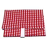 Wrap-N-Mat, Extra Large, Reusable Food Wrap and Placemat (Red Gingham)