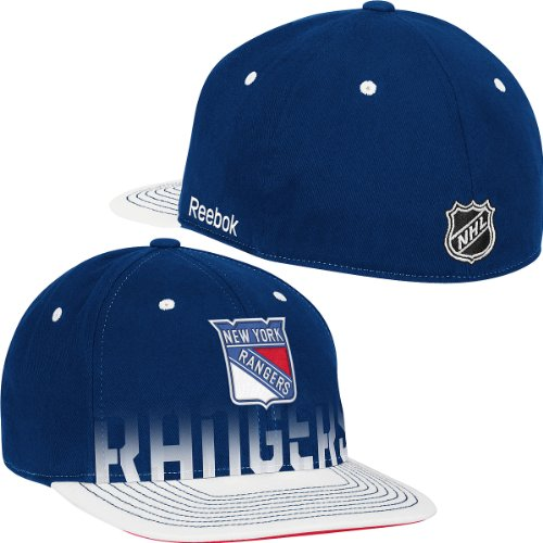 New York Rangers Flat Bill Fitted Hat by Reebok size L/XL TS73Z (New York Rangers Hat Reebok)