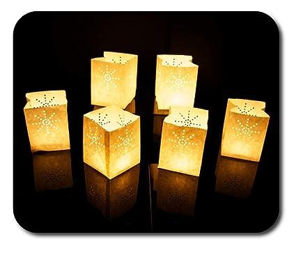 Sky Lanterns - Mamparas de papel para velas (12 unidades, tamaño pequeño)