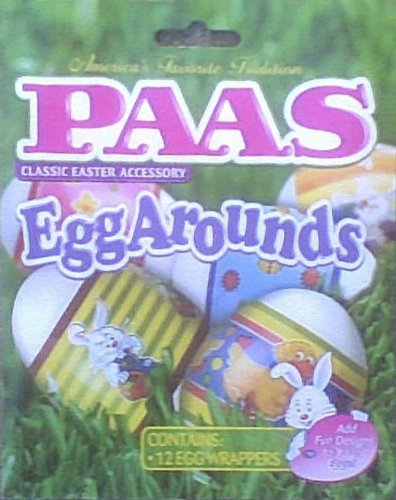 Paas Egg Arounds - 12 Easter Egg Wrappers - Use Blow Dryer or Boiling ()