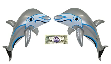Amazon.com: imprints Plus 2 hinchable gris delfines piscina ...