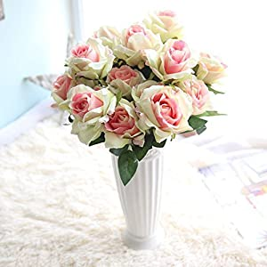 Sunrisee Artificial Flowers 7 Heads Fake Rose Silk Flower Bouquet for Wedding Home Party Decor 59