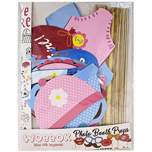 Discount Retail Photo Booth Props for Baby Shower (28 Pieces)