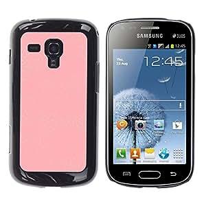iKiki Tech / Estuche rígido - Wallpaper Pattern White Plastic Girly - Samsung Galaxy S Duos S7562