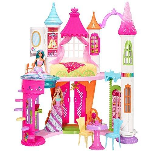 Outs Wall Barbie Cut (Barbie Dollhouse Dreamtopia Magic Sweetville Castle)