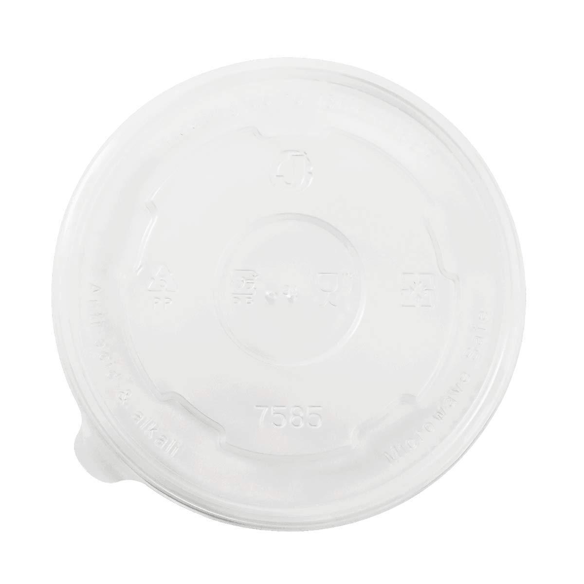 Karat C-KDL127-PP 20 oz PP Food Container Flat Lids (Case of 600)